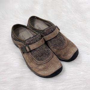 Merrell Slip On Brown Suede Mules Walking Shoes